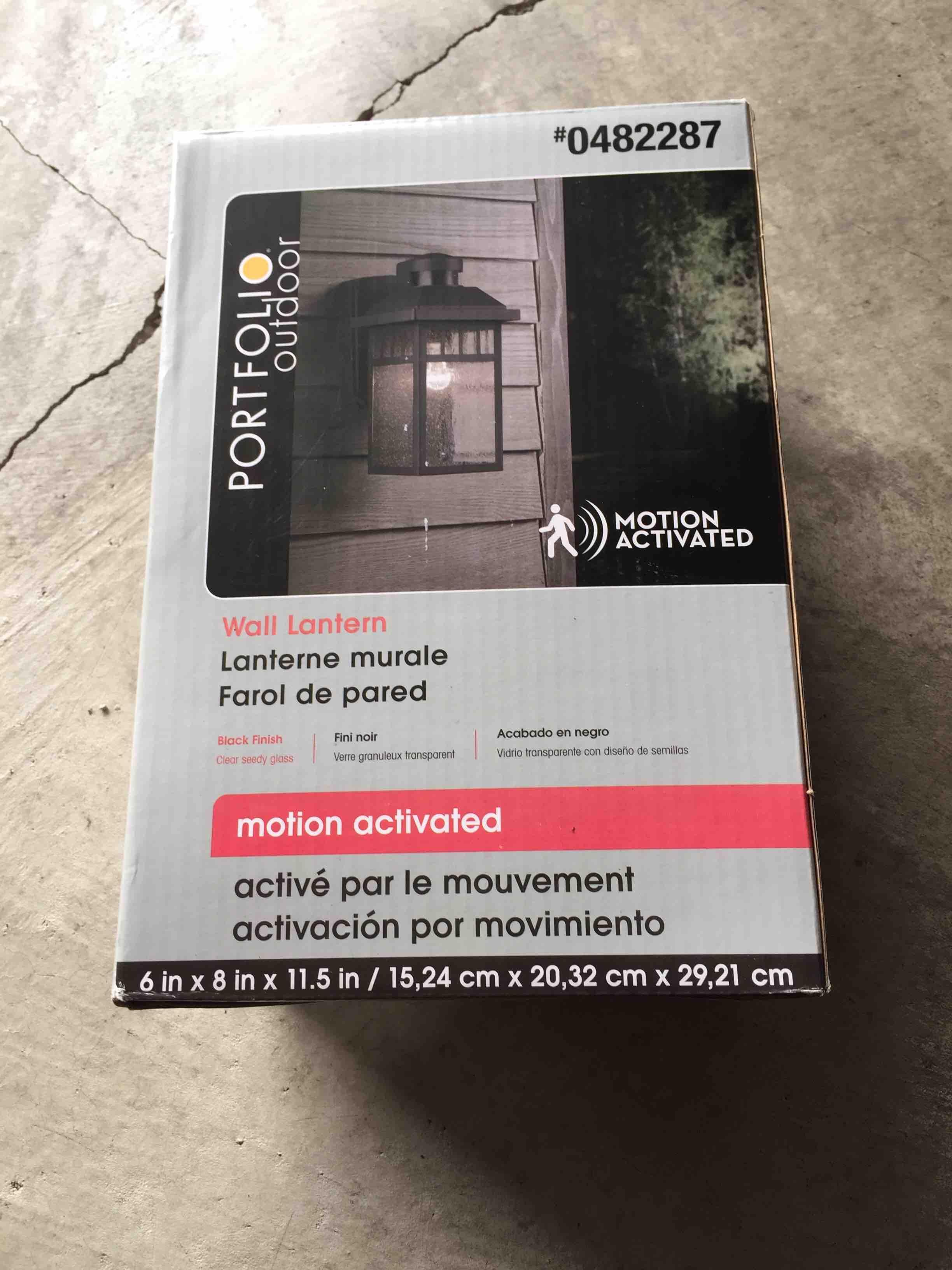 Outdoor light fixture unopened