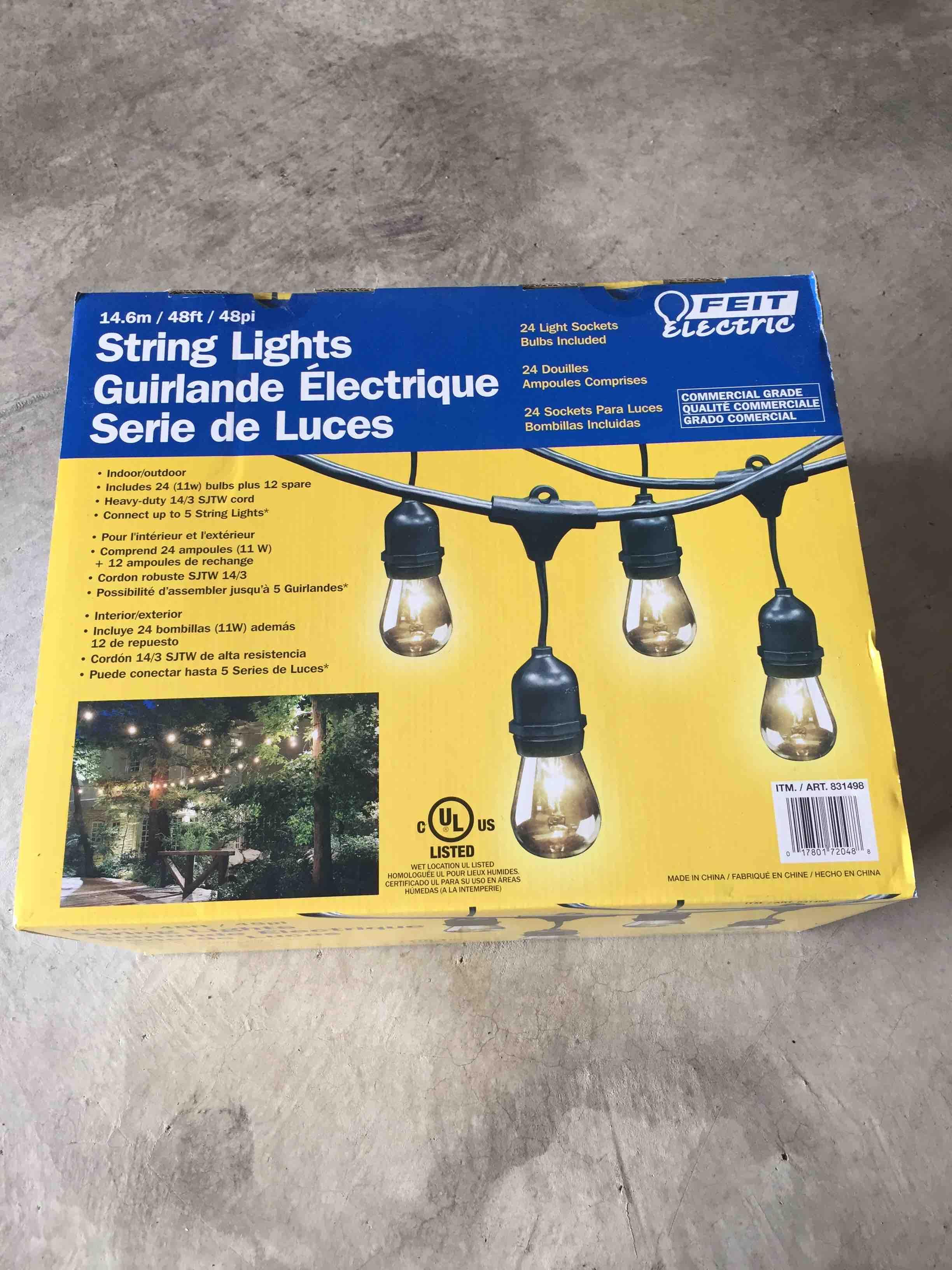 String lights--unopened new