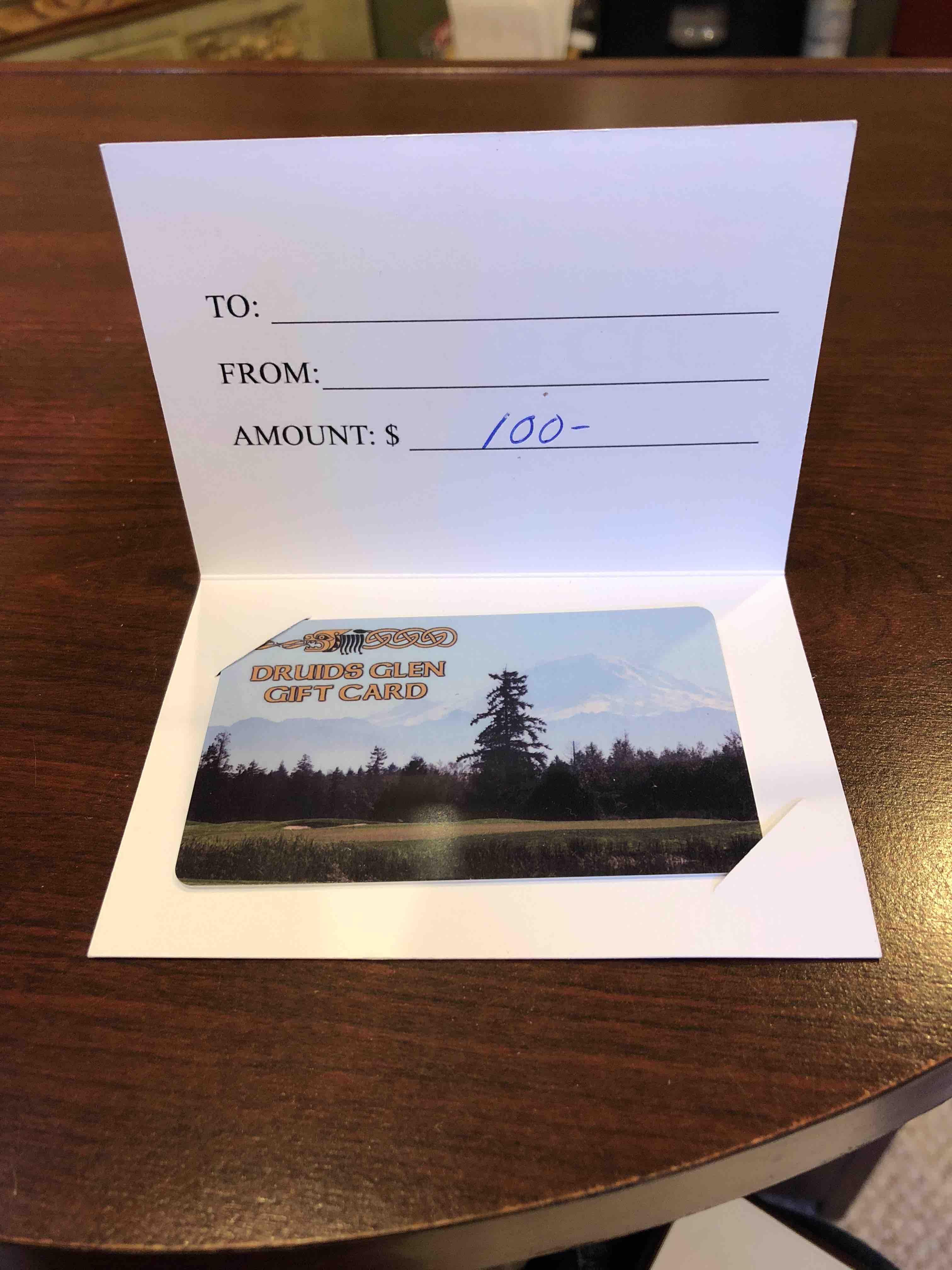 Druids Glen Gift card