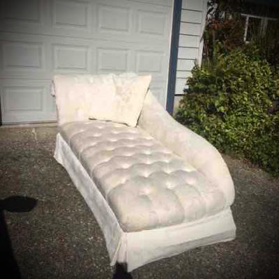 White chaise